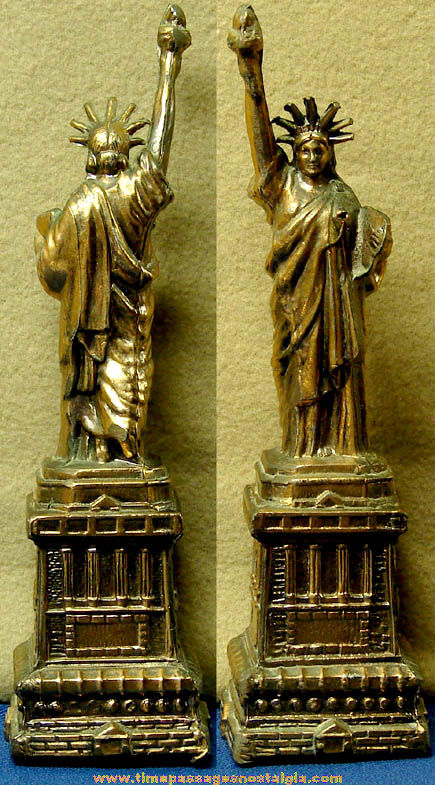 Old Metal Statue of Liberty Advertising Souvenir Statue