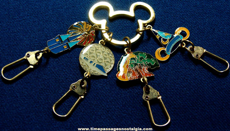 Disneyland or Walt Disney World Advertising Souvenir Charm Key Chain or Key Ring