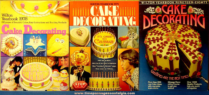 (3) Different Old Wilton Cake Decorating Year Book Catalogs