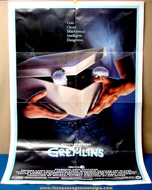 ©1984 Warner Brothers Gremlins Monster Movie Theater Advertising Poster