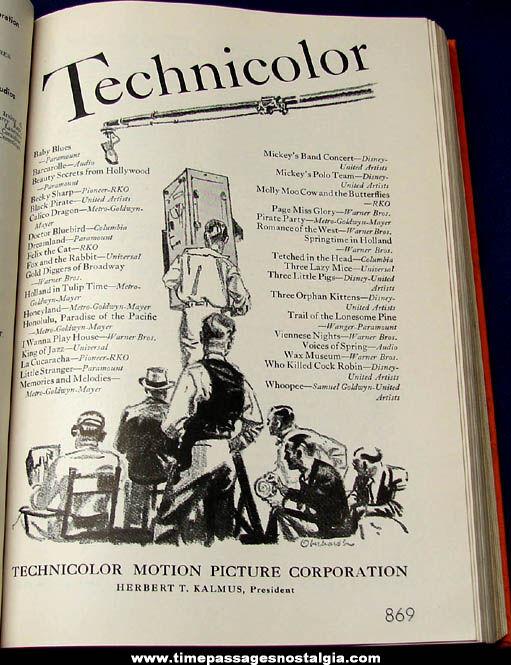 1936 - 1937 International Motion Picture Almanac Book