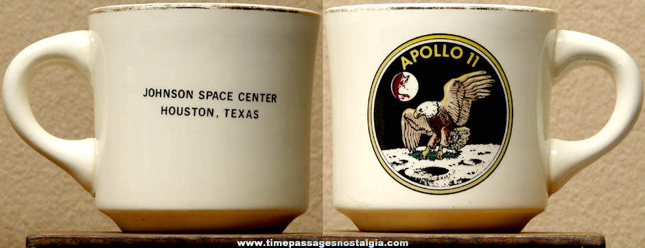 Old Apollo 11 Johnson Space Center Advertising Coffee Cup