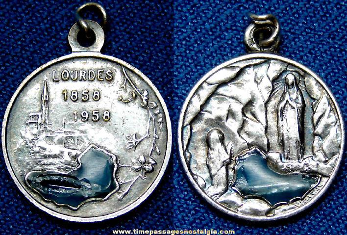 1858 - 1958 Lourdes 100th Anniversary Religious Medallion