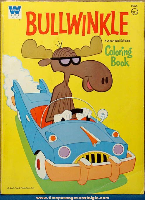 ©1971 Bullwinkle Moose Cartoon Character Children's Coloring Book