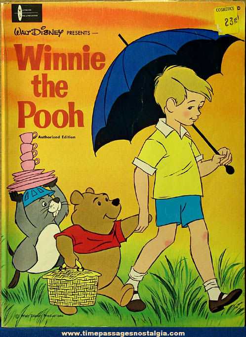 �1965 Walt Disney Winnie The Pooh Cartoon Character Children's Coloring Book