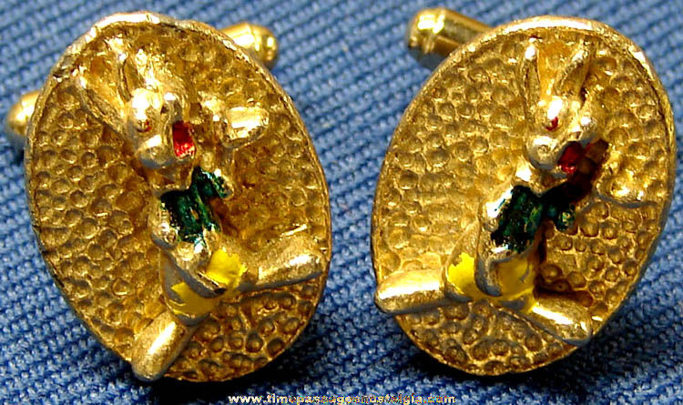 1950s Walt Disney Productions Br'er Rabbit Character Cuff Link Set