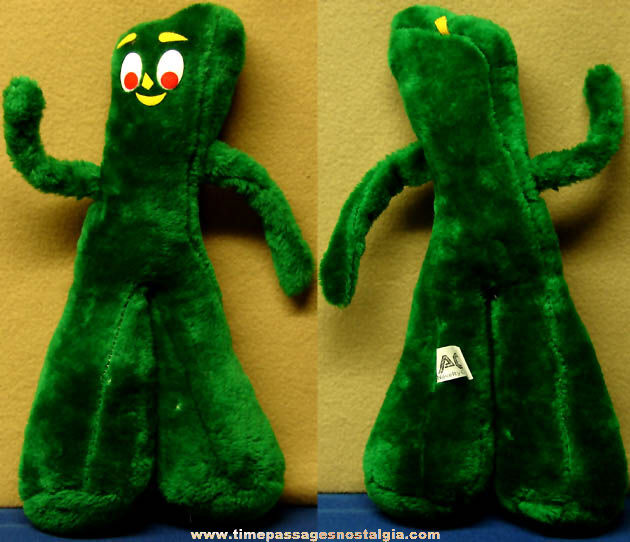 ©1988 Gumby Claymation Character Stuffed Plush Doll
