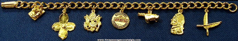 United States President Thomas Jefferson Montecello Advertising Souvenir Jewelry Charm Bracelet