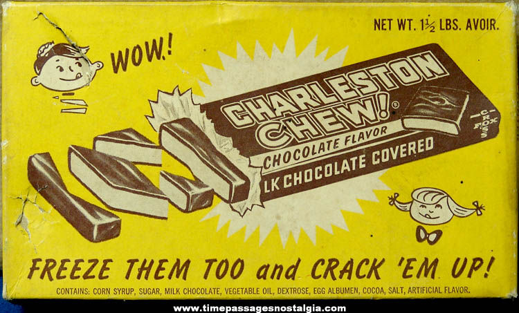 ©1964 Charleston Chew Candy Bar Advertising Store Display Box