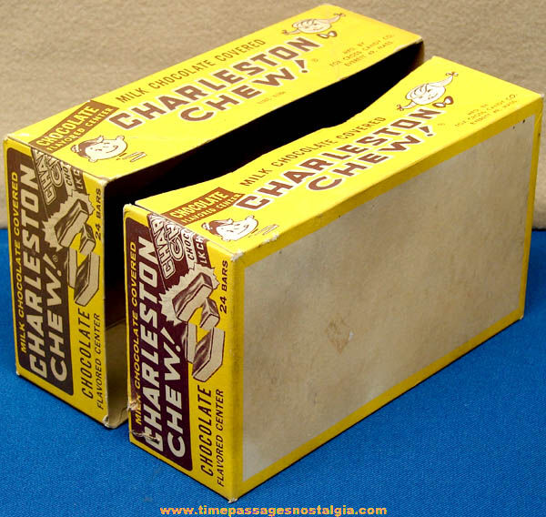 ©1964 Charleston Chew Candy Bar Advertising Store Display Box