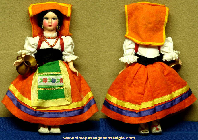 Small Woman Native Costume Toy Doll