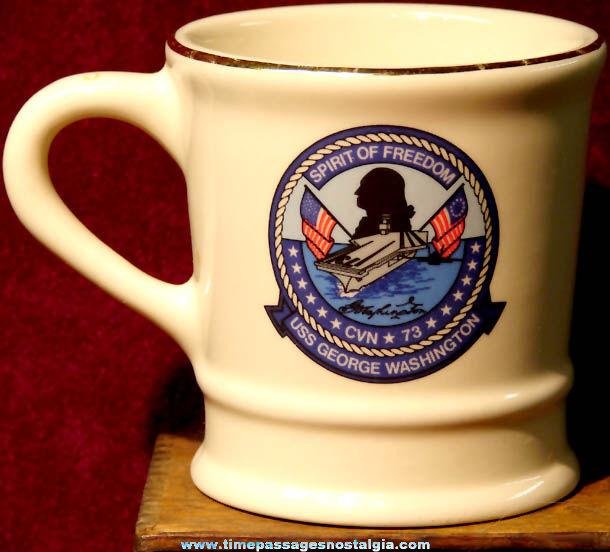 United States Navy U.S.S. George Washington CVN-73 Advertising Ceramic or Porcelain Coffee Cup