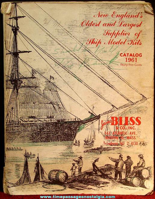 1961 James Bliss & Company Model Ship Kit Catalog