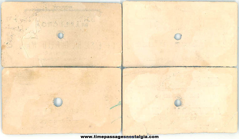 (4) Different Old New York New Haven & Hartford Railroad Train Tickets