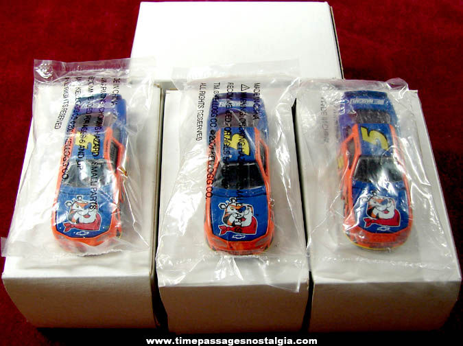 (4) Unopened ©2001 Kellogg's Cereal Advertising Premium Die Cast Toy Nascar Race Cars