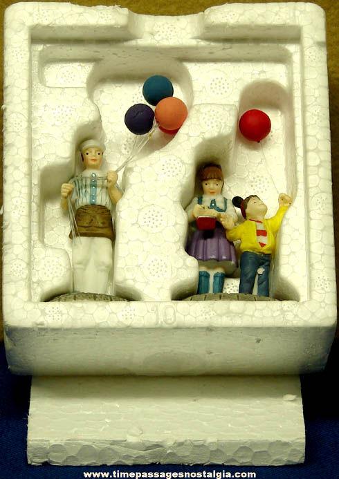 Department 56 Disney Parks Village Balloon Seller Two Piece Figurine Set