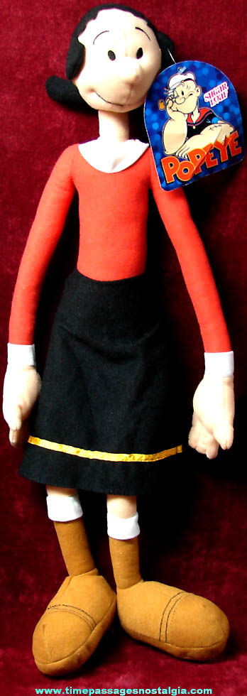 Large Unused ©2012 King Features Syndicate Olive Oyl Cartoon Character Toy Cloth Doll