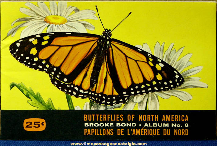 Unused ©1965 Brooke Bond Tea Butterflies of North America Premium Card Album