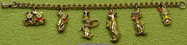 ©1959 Hanna Barbera Cartoon Character Metal Charm Bracelet