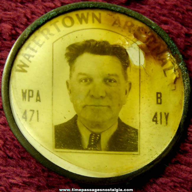 Old Watertown Arsenal Employee Security Photo Identification Badge