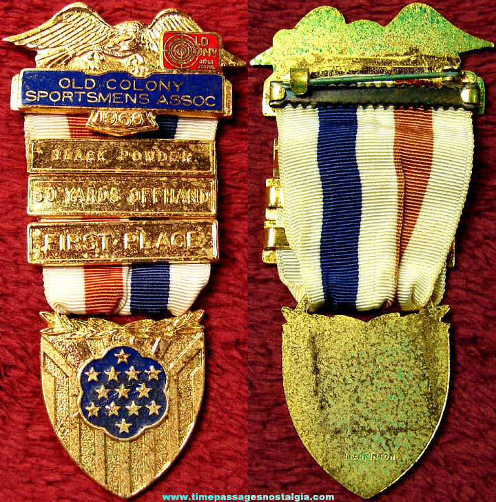 1968 Old Colony Sportsmens Association Enameled Medal with Award Bars
