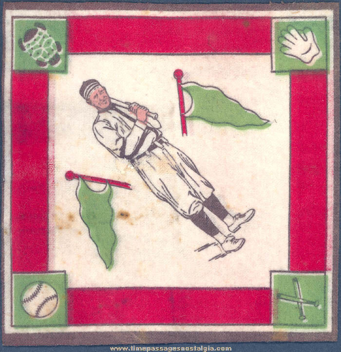 1914 Washington Senators Eddie Foster Baseball Player Tobacco Premium Blanket or Felt