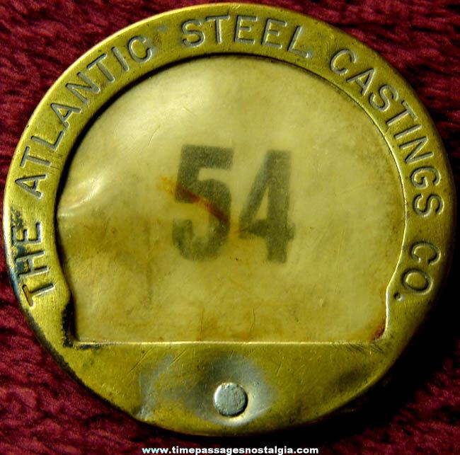Old Atlantic Steel Castings Company Advertising Employee Badge Pin