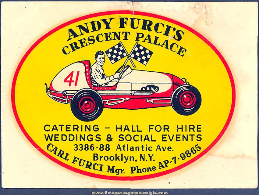 Colorful Old Unused Midget Auto Racing Advertising Water Decal