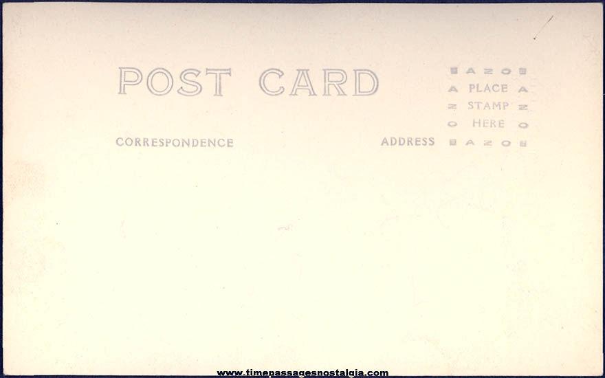 Old Unused Texaco Service Station Cadue's Garage Employee Tilton New Hampshire Real Photo Post Card