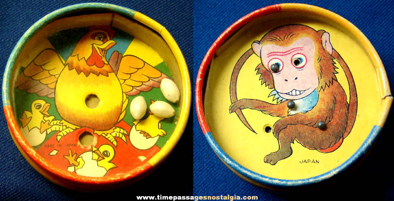 Colorful Old Chicken and Monkey Two Sided Dexterity Palm Puzzle Game