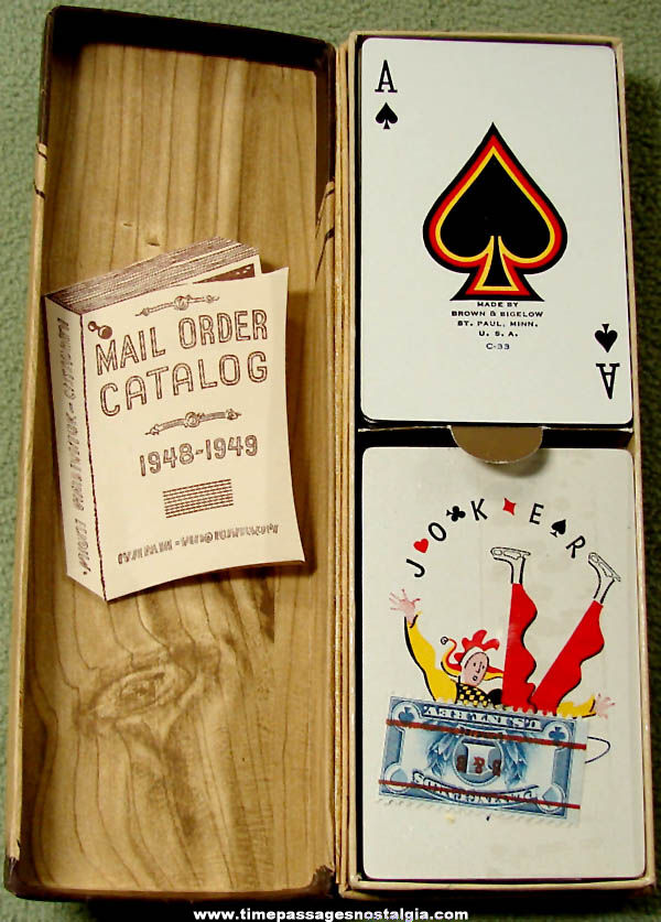 Old Unused Boxed Set of Paul Webb Hillbilly Character Advertising Premium Playing Cards