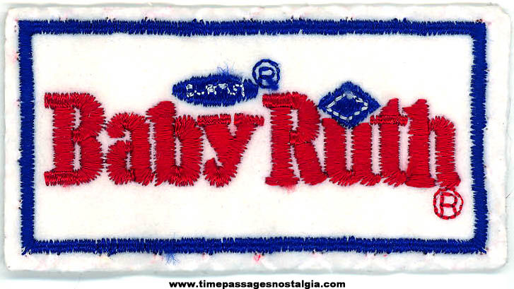 Colorful Old Curtiss Baby Ruth Candy Bar Advertising Embroidered Cloth Patch