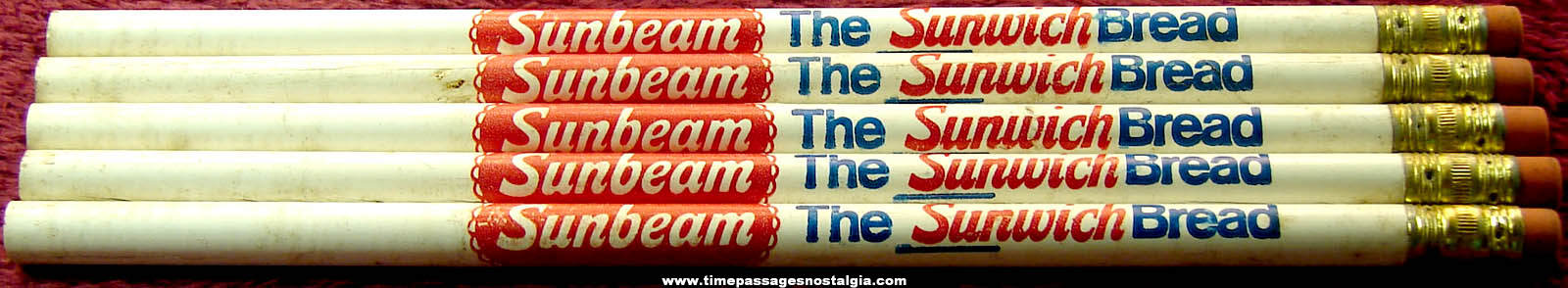 (5) Old Unused Sunbeam Bread Advertising Premium Pencils
