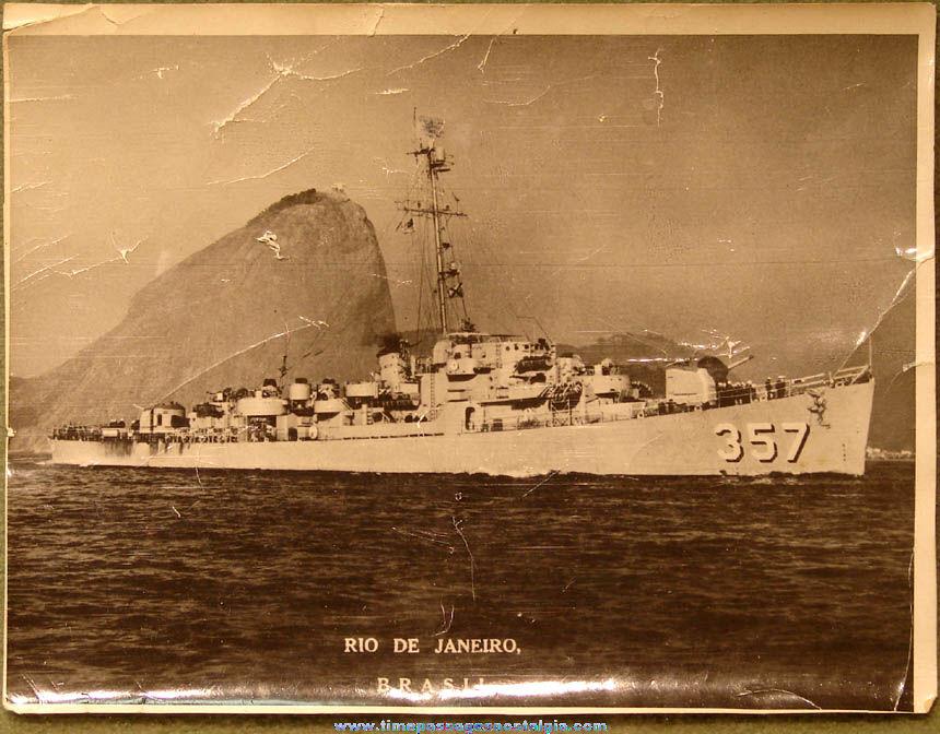 Old United States Navy Ship U.S.S. George E. Davis (DE-357) Rio De Janeiro Brazil Photograph