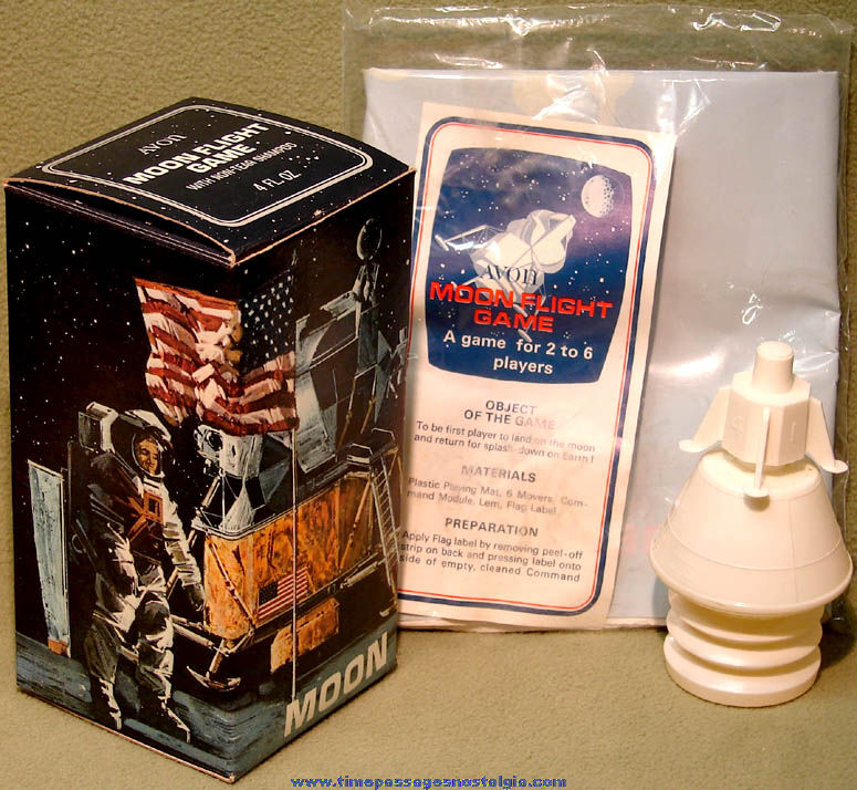 Unused & Boxed ©1970 Avon Space Flight Game with Shampoo Capsule Bottle