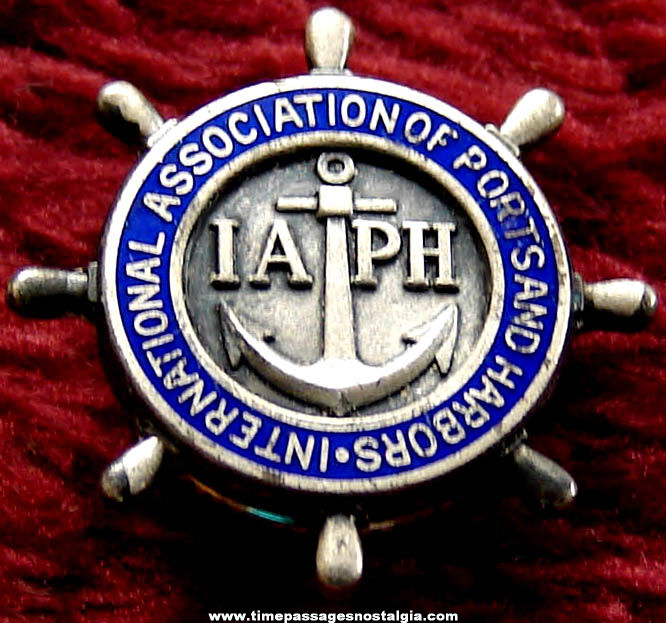 International Association of Ports and Harbors IAPH Advertising Screw Back Lapel Button