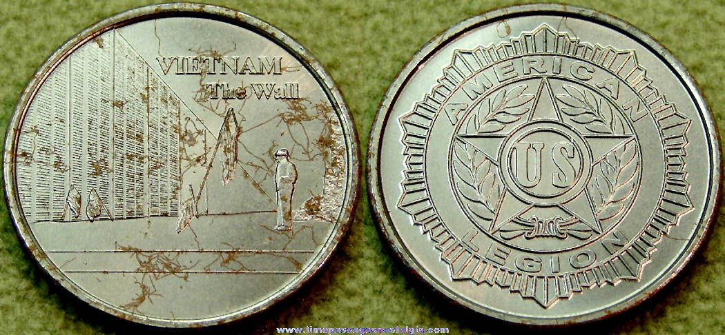 United States American Legion Vietnam War Memorial Medal Coin
