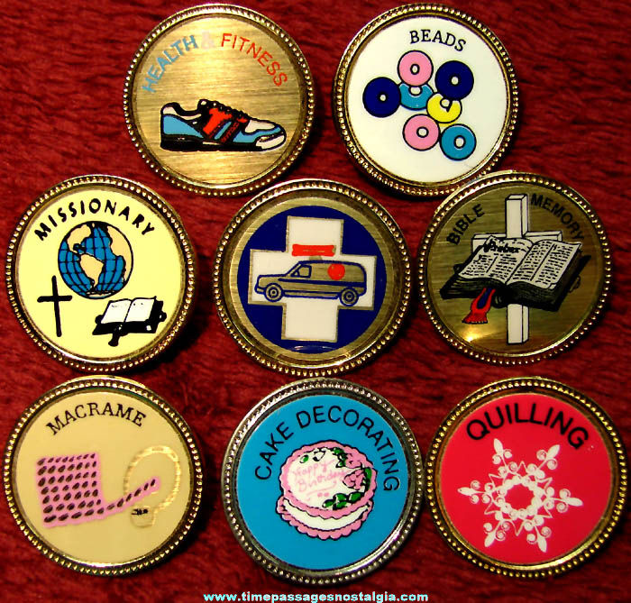 (8) Different Keepers of The Faith Merit or Activity Achievement Award Badge Pins