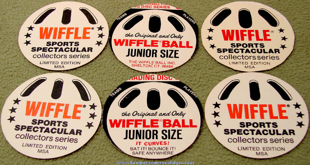 (6) ©1976 Wiffle Ball Major League Baseball Player Round Baseball Cards