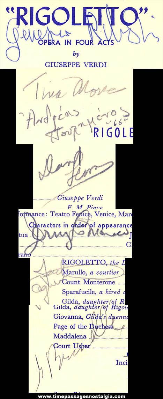 (2) 1960s New England Opera Company Programs (7 autographs)