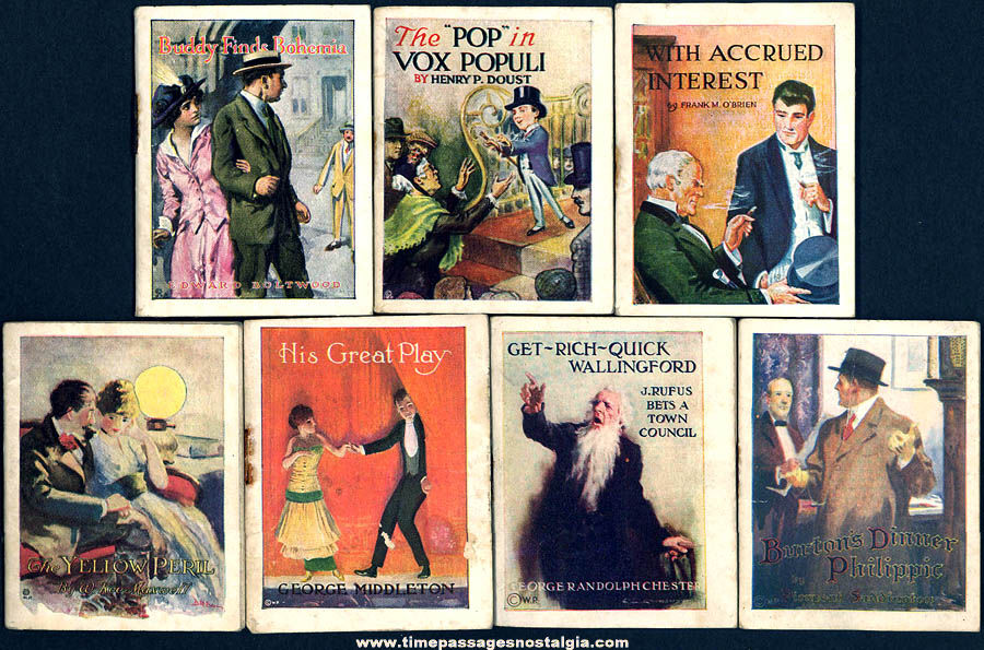 (7) Early 1900s Cigarette & Cigar Advertising Premium or Prize Miniature Books