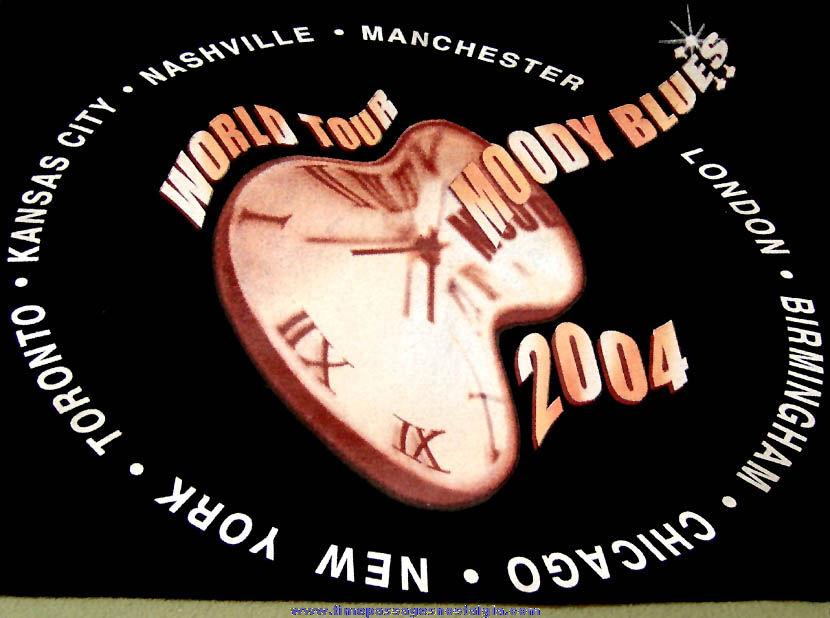 Unused 2004 Moody Blues World Tour Advertising Concert Souvenir T-Shirt