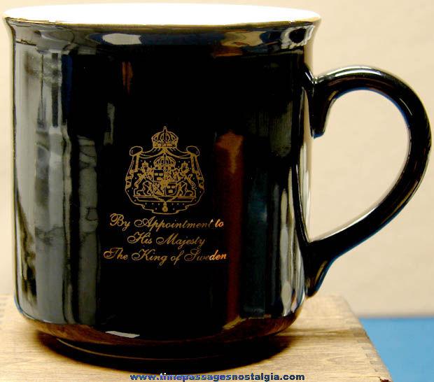 King of Sweden Gevalia Kaffe Ceramic Advertising Premium Coffee Cup