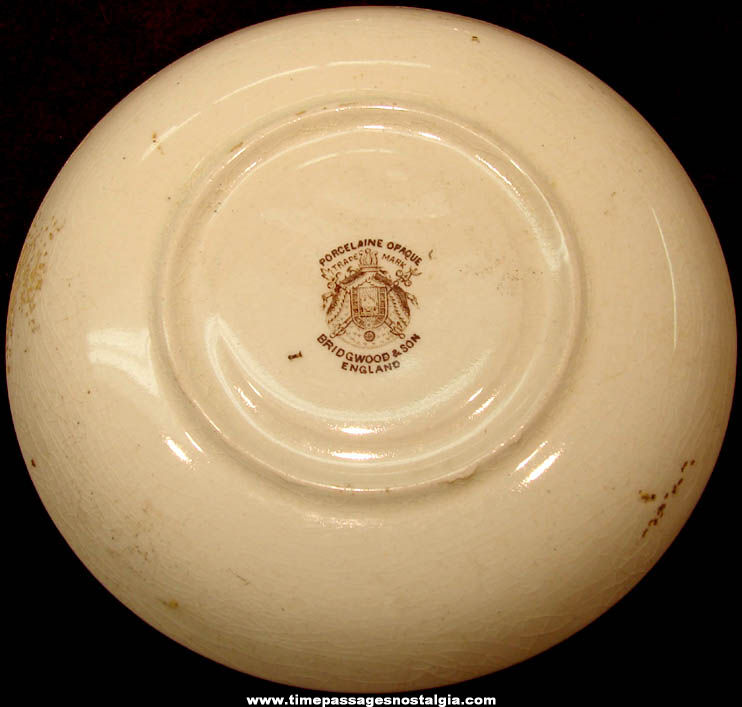 1893 Columbian Exposition Chicago World's Fair Hall of Mines and Mining Building Advertising Souvenir Saucer Plate
