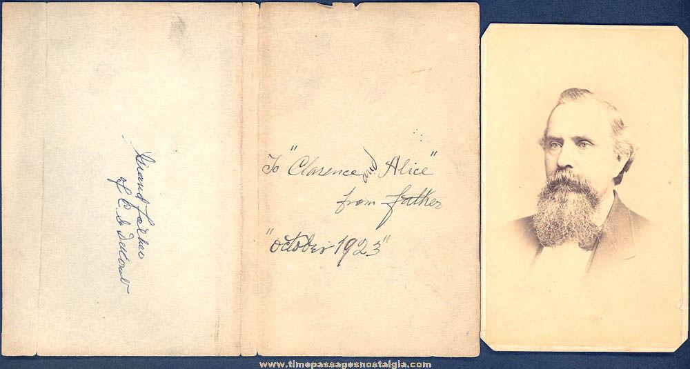 1871 Philadelphia Pennsylvania Carte de Visite Photograph with Genealogy Notes