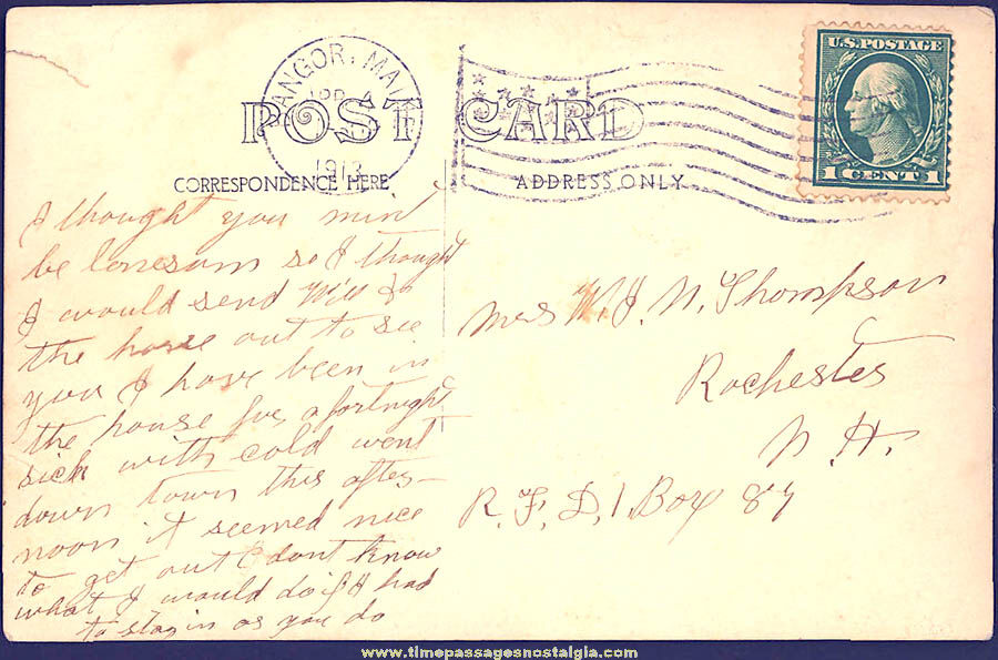 1913 Wm. F. Chick Seeds Advertising Bangor Maine Real Photo Post Card