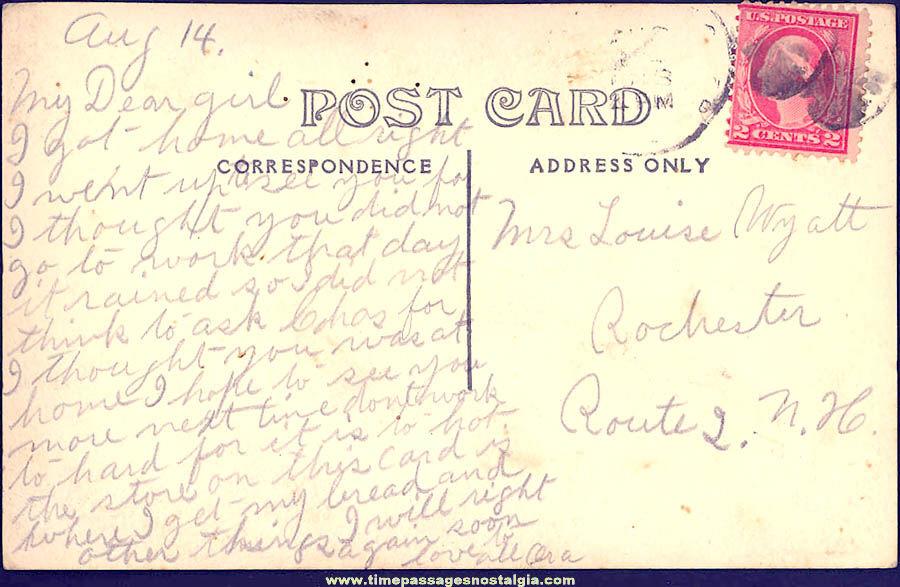 1913 A. W. Sharp's Store Upper Gloucester Massachusetts Real Photo Post Card