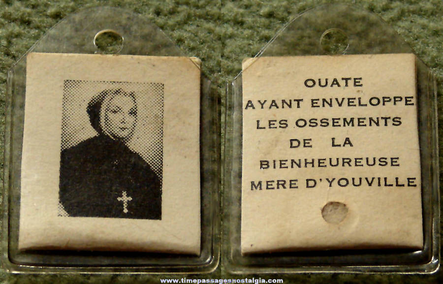 Small Old Catholic or Christian Marie Marguerite d'Youville Religious Relic Charm