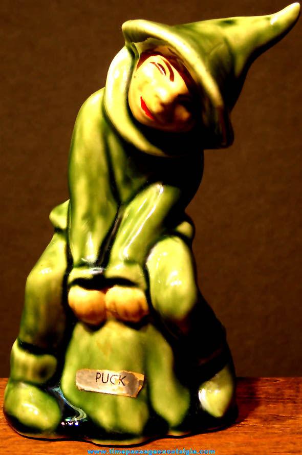 Old Puck Character Elbee Art Porcelain Figurine Statue