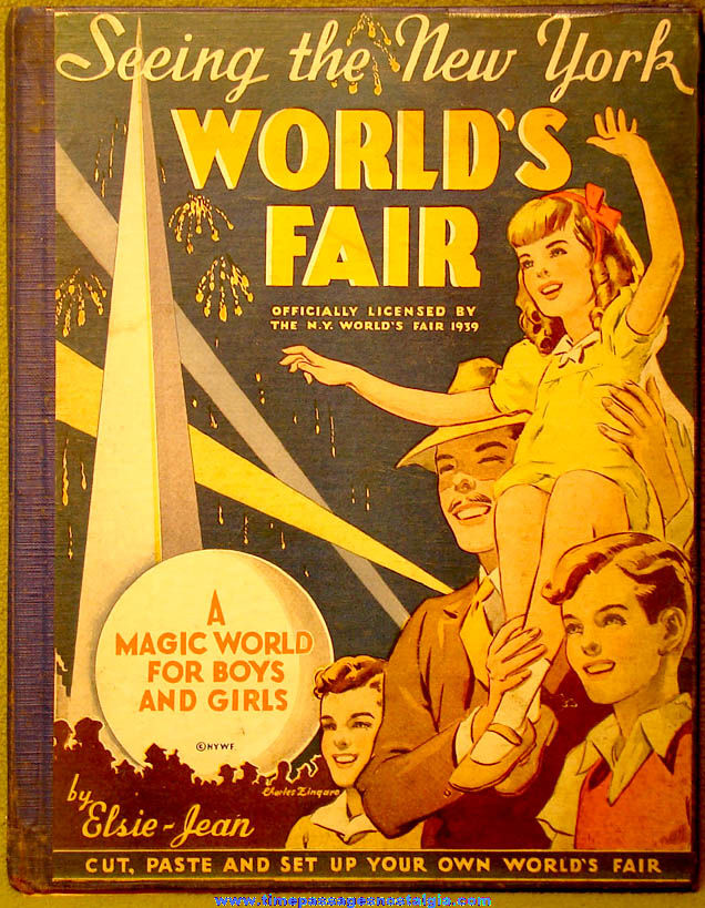 ©1939 Seeing The New York World's Fair Book with Punch Out Exhibit Pavilions
